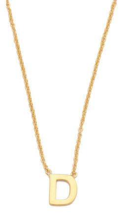 Gorjana Alphabet Necklace - D