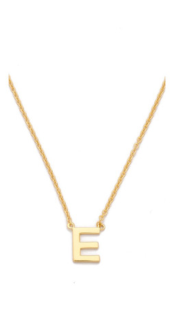 Gorjana Alphabet Necklace - E