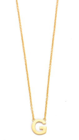 Gorjana Alphabet Necklace - G