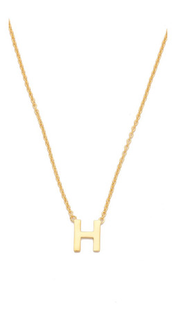 Gorjana Alphabet Necklace - H