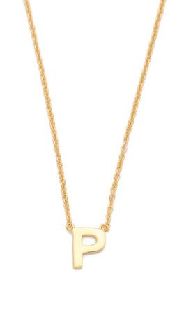 Gorjana Alphabet Necklace - P
