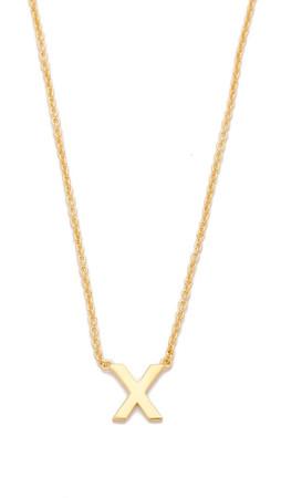 Gorjana Alphabet Necklace - X
