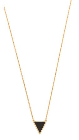 Gorjana Bloom Necklace - Black/Enamel/Gold