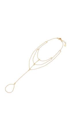Gorjana Dev Foot Chain Anklet - Gold