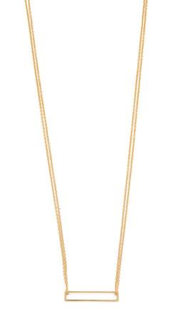 Gorjana Harper Rectangle Necklace - Gold