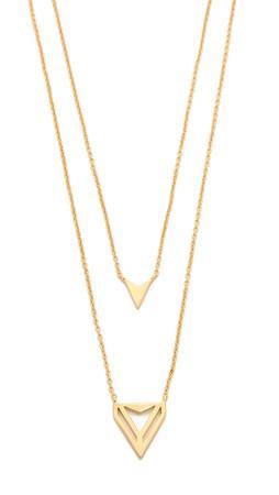 Gorjana Harper Triangle Necklace - Gold