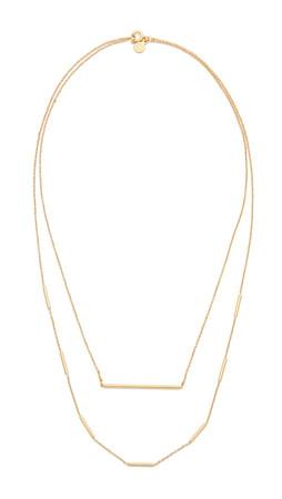 Gorjana Nina Layered Necklace - Matte Gold
