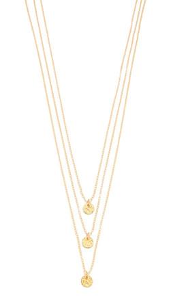 Gorjana Three Disc Necklace - Gold