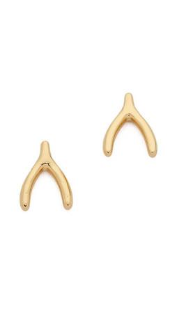 Gorjana Wishbone Stud Earrings - Gold