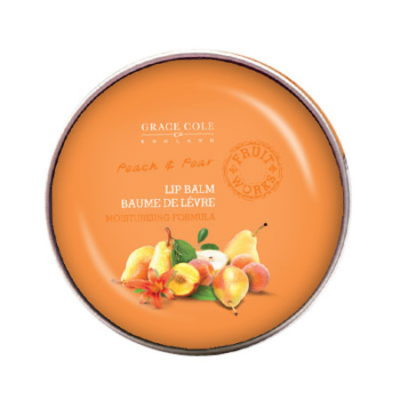 Grace Cole Fruit Works Peach & Pear Lip Balm 12g