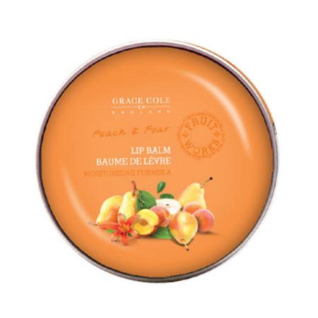 Grace Cole Fruit Works Peach & Pear Lip Balm 12g