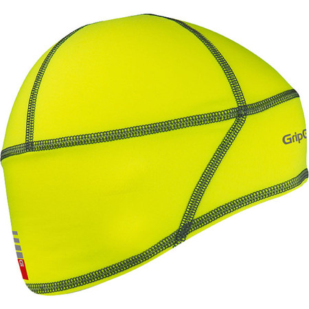 GripGrab Hi Vis Skull Cap - Medium Yellow | Cycle Headwear