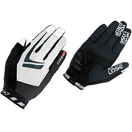 GripGrab Racing Full Finger Gloves - Large Black/White