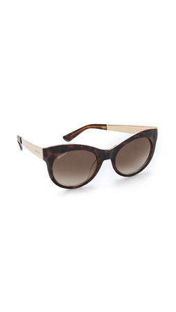 Gucci Floral Leopard Sunglasses - Havana Floral Gold/Brown