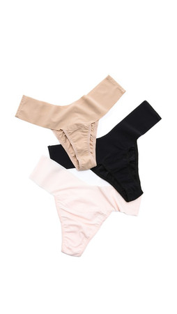 Hanky Panky Bare 3 Eve Natural Rise Thongs - Neutral