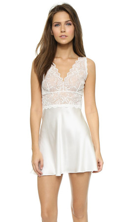 Hanky Panky Lady Catherine Silk Chemise - Light Ivory
