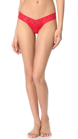 Hanky Panky Petite Signature Lace Low Rise Thong - Red