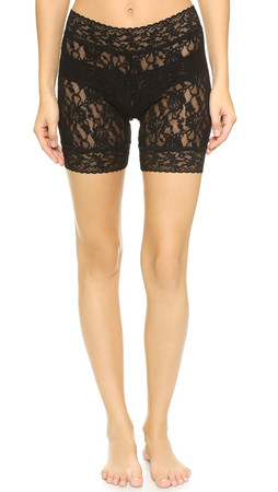 Hanky Panky Signature Lace Bike Shorts - Black