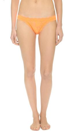 Hanky Panky Signature Lace Brazilian Bikini Briefs - Mango Tango
