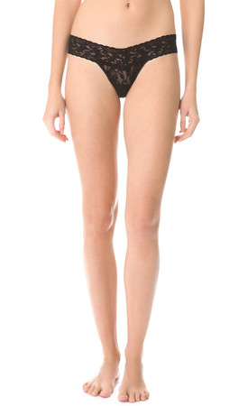 Hanky Panky Signature Lace Low Rise Thong - Black