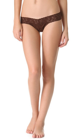 Hanky Panky Signature Lace Low Rise Thong - Chestnut