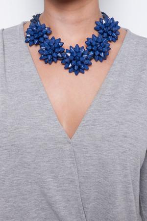 Hattie Navy Spike Chain Necklace