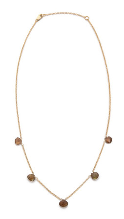 Heather Hawkins 5 Tiny Stones Necklace - Gold