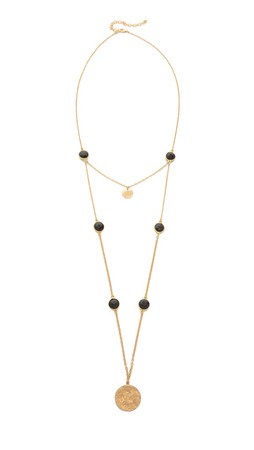 Heather Hawkins Fine & Mellow Necklace - Gold/Black