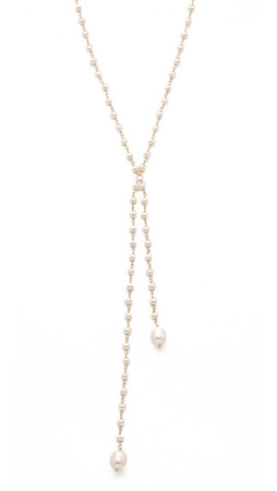 Heather Hawkins Freshwater Cultured Pearl Lariat Necklace - Pearl
