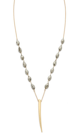Heather Hawkins Ink Necklace - Gold/Grey