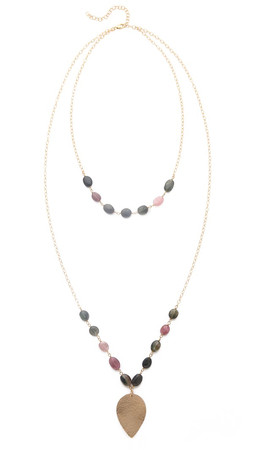 Heather Hawkins Layered Lotus Necklace - Multi Tourmaline