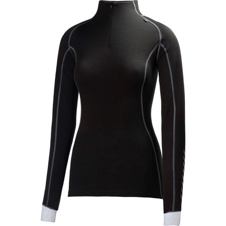 Helly Hansen Ladies Warm Freeze Half Zip Base Layer - Small Black