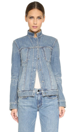 Helmut Lang Bleach Denim Jacket - Light Blue