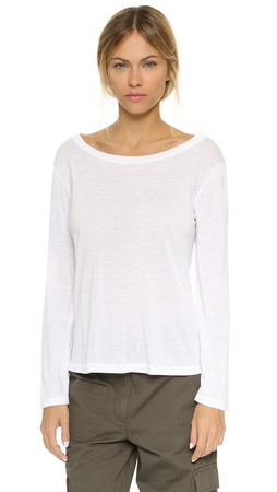 Helmut Lang Drape Top - Optic White