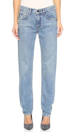 Helmut Lang Relaxed Tapered Bleach Jeans - Light Blue