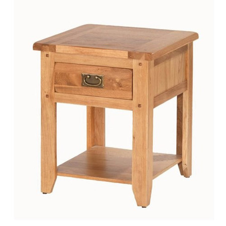 Heritage Furniture Cherbourg Rustic Oak 1 Drawer Bedside Table