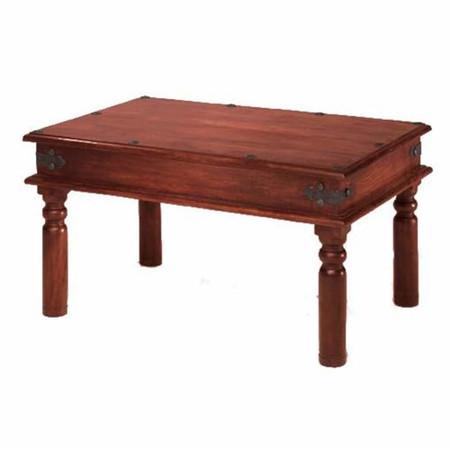 Heritage Furniture UK Delhi Indian Rivet Top Rectangular Coffee Table - 60 x 110cm