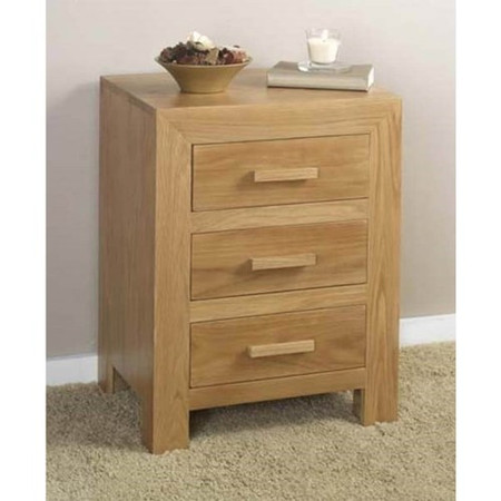 Heritage Furniture UK Laguna Oak 3 Drawer Bedside Chest