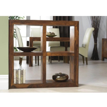 Heritage Furniture UK Laguna Sheesham 4 Hole Display Unit