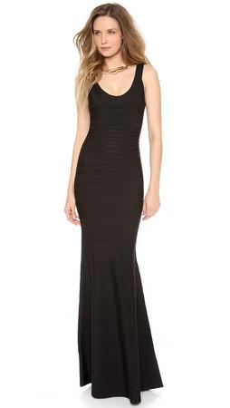Herve Leger Ellen Sleeveless Maxi Dress - Black