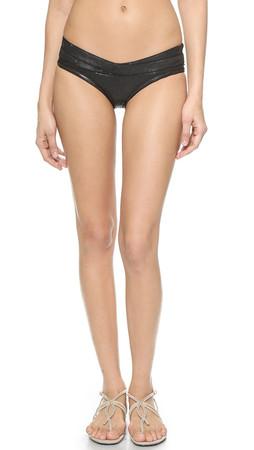 Herve Leger Loretta Bikini Bottoms - Matte Black