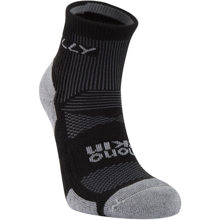 Hilly Cushion Anklet - Large Black/Grey | Running Socks