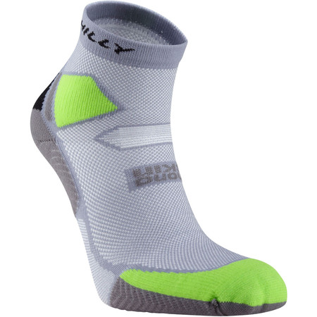 Hilly Skyline Anklet - Large Grey/Lime/Black | Running Socks
