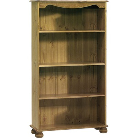 Home Office Bookcase W/ 3 Shelves Pine