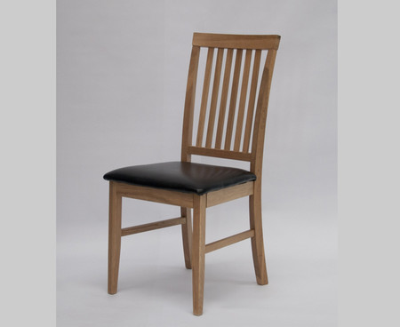 Homestyle GB Lyon Leather and Oak Dining Chair (Pair)
