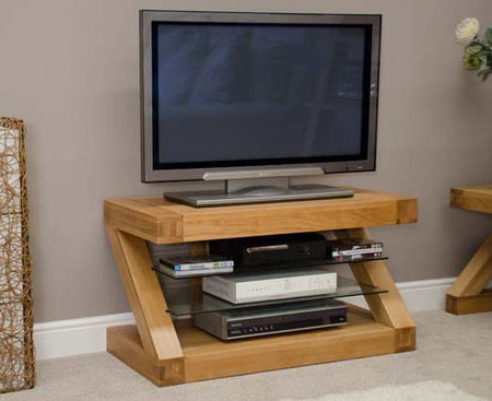 Homestyle GB Z Solid Oak 90cm TV Unit