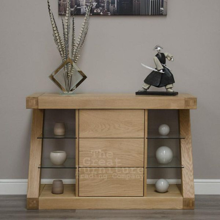 Homestyle GB Z Solid Oak Narrow Sideboard