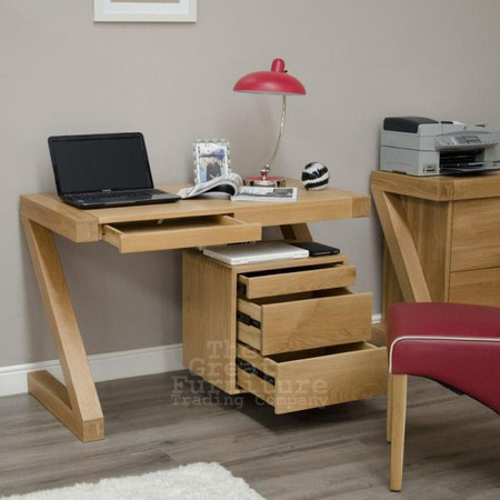 Homestyle GB Z Solid Oak Small Desk