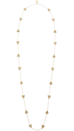 House Of Harlow 1960 Cerro Torre Station Necklace - Gold