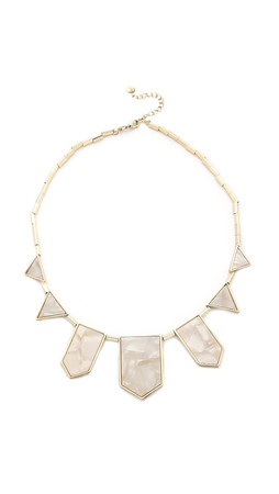 House Of Harlow 1960 Five Station Necklace - Pearl/Gold